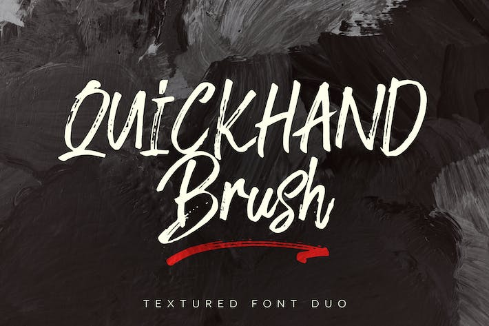 Thumbnail for Quickhand Font Duo Negro