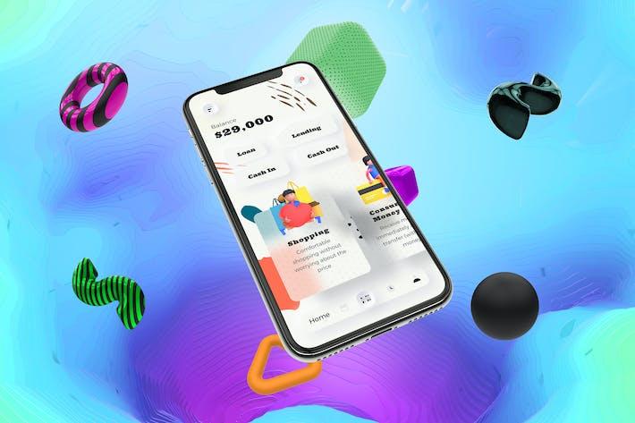 Thumbnail for Loans Finance Mobile Neumorphism Soft Ui