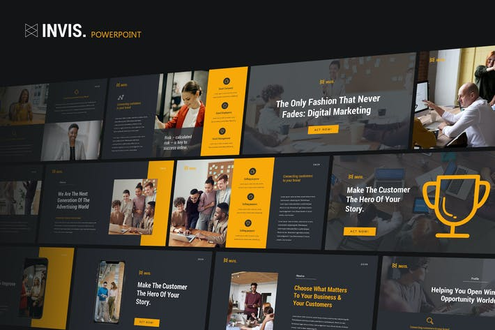 Thumbnail for INVIS - Creative Agency Powerpoint Template