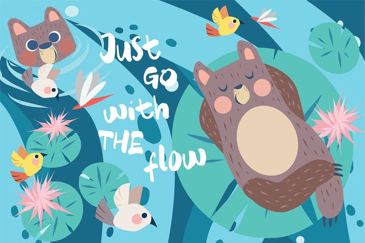 Just with Flow - Vector Illustration