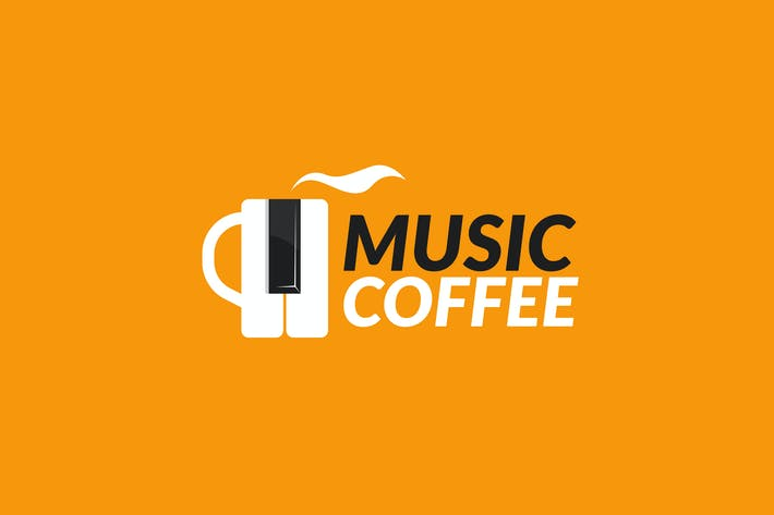 Thumbnail for Coffee Music Logo Template