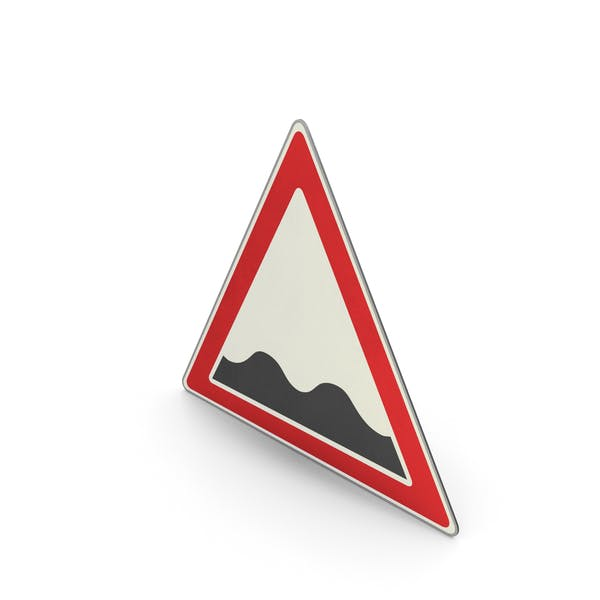 Road Sign Uneven Road Surface