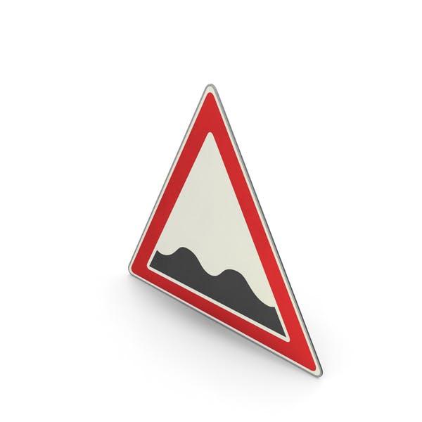 Verkehrszeichen unebene Straßenoberfläche
