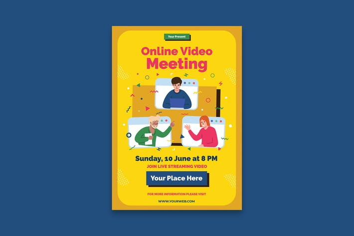 Thumbnail for Online Meeting Poster
