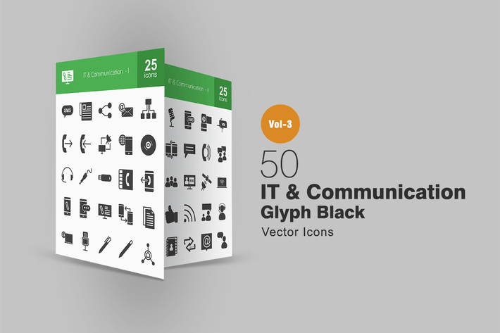 Thumbnail for 50 IT- und KommunikationssyIcons