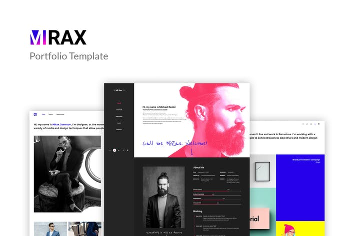 Thumbnail for Mirax - Portfolio PSD Template