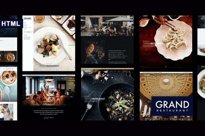 Thumbnail for Grand Restaurant HTML Template