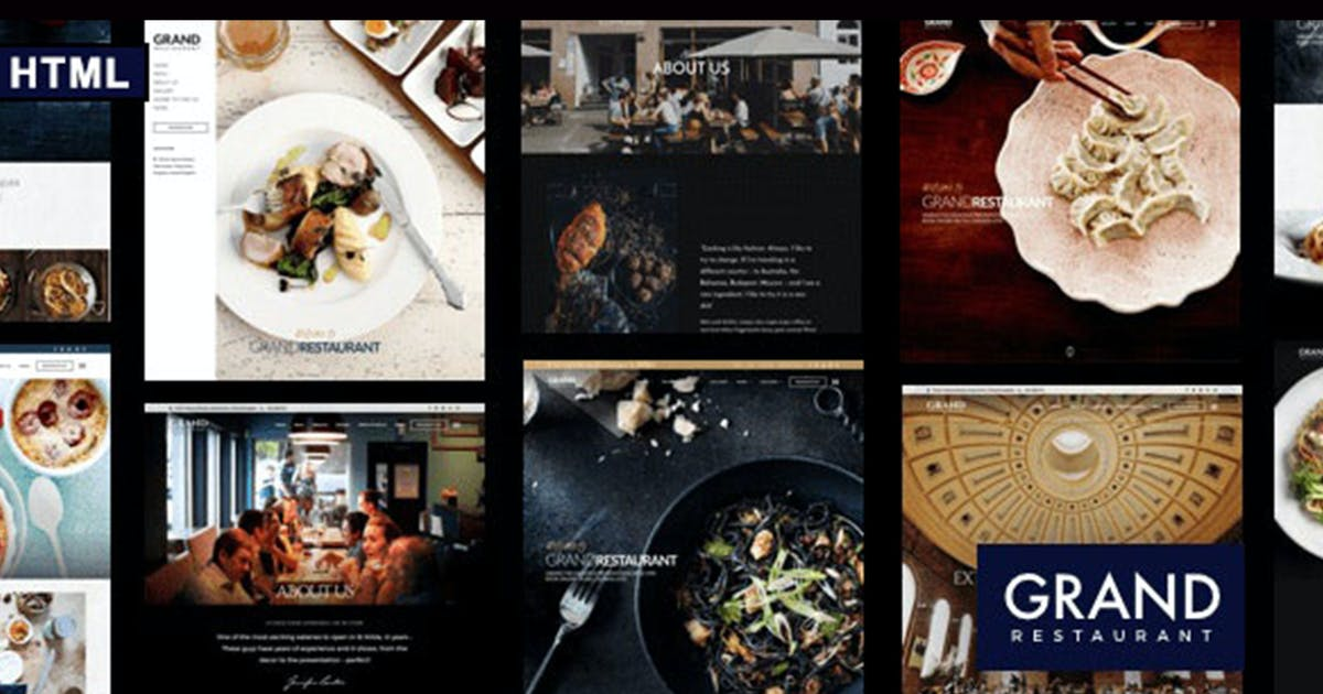 Download Grand Restaurant HTML Template by max-themes
