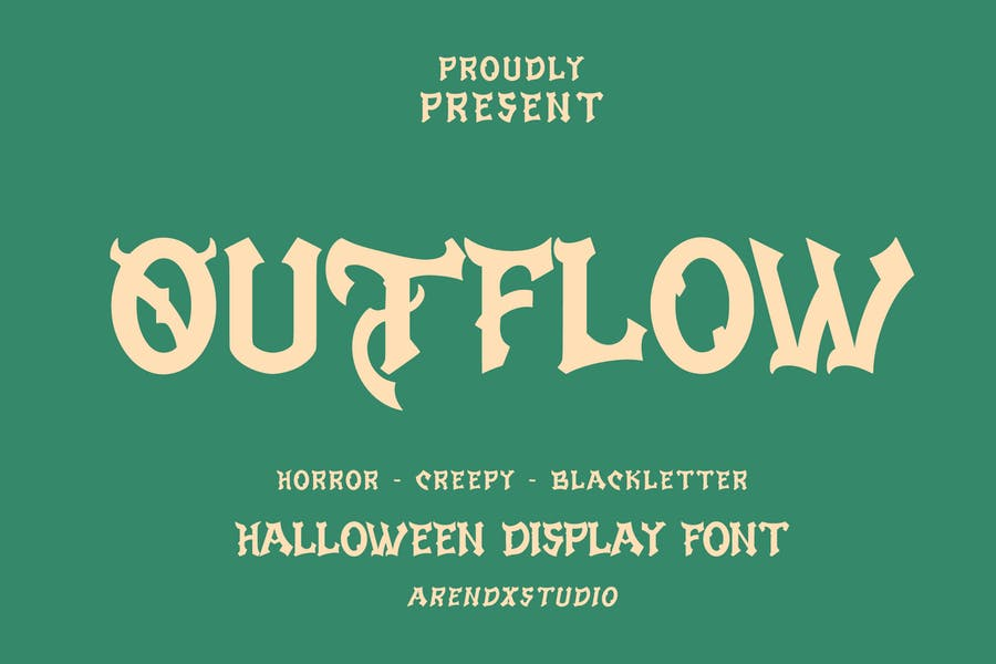 Outflow - Halloween Display Font