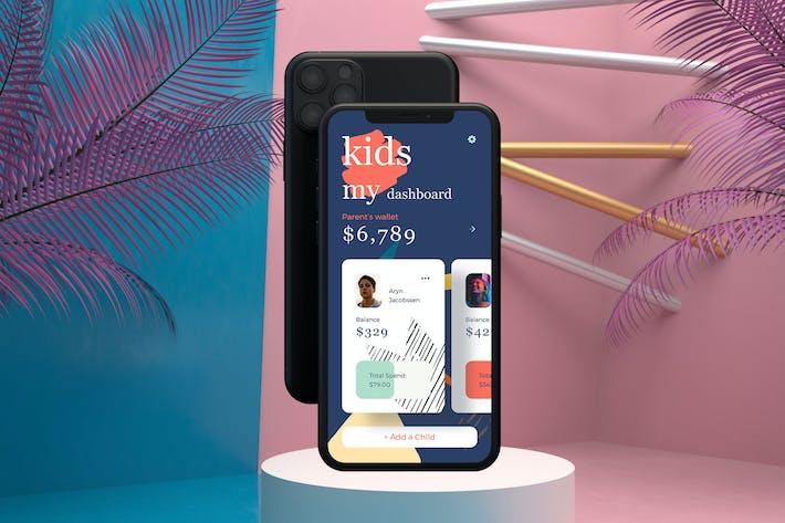 Thumbnail for Kids Finance Mobile UI