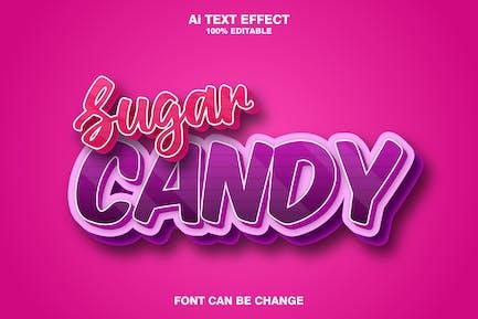 sugar candy 3d text effect