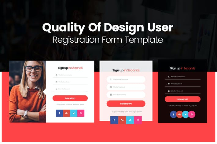 Thumbnail for Quality Of Design User Registration Form Template