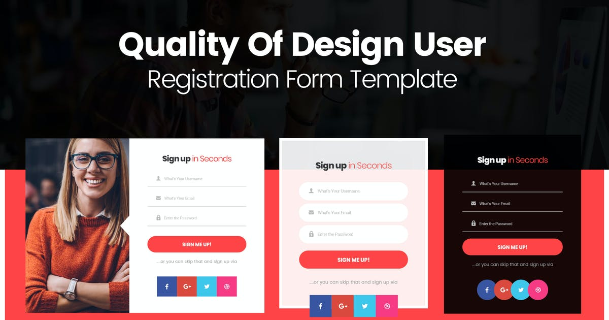 Download Quality Of Design User Registration Form Template by mexopixel