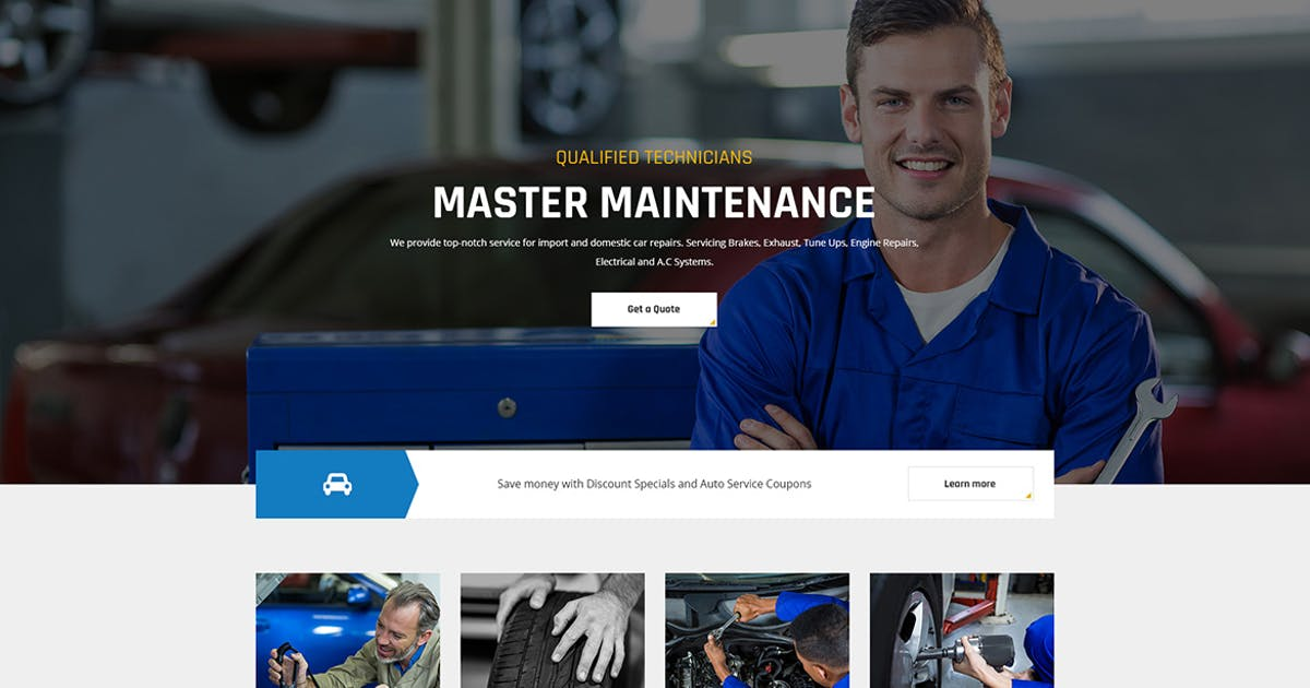 Download Automov - Car Repair, Auto Car Services PSD Templa by themesflat