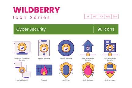 90 Cyber-Sicherheitssymbole - Wildberry-Serie