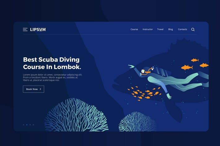 Thumbnail for Scuba Diving Vector Illustration