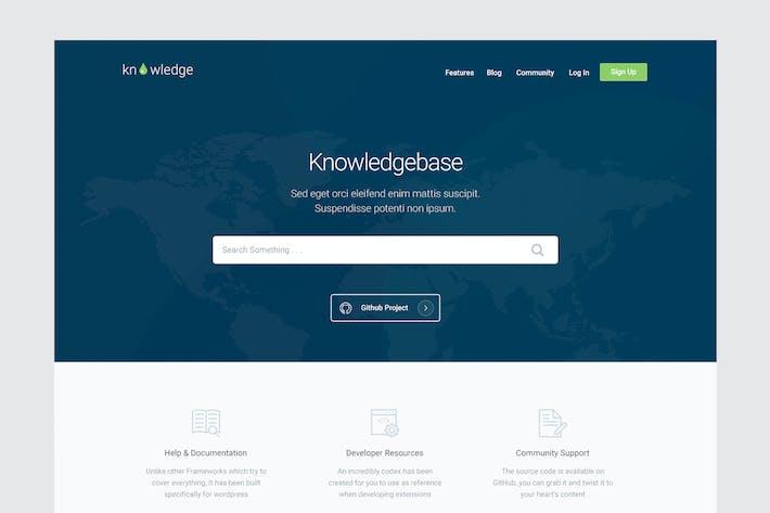 Thumbnail for Knowledge - Knowledgebase & Documentation HTMl Tem