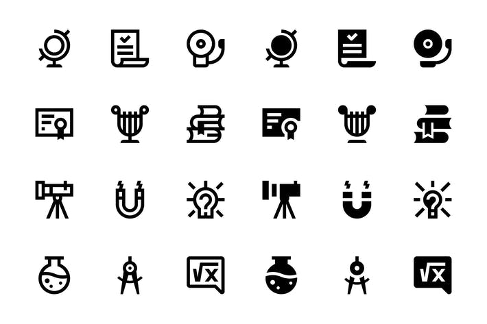 Thumbnail for 56 Education and Science Icons