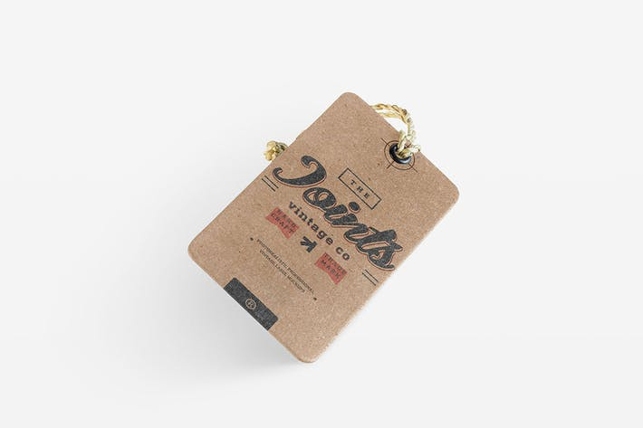 Thumbnail for Vintage Label Logo Photorealistic Mockup