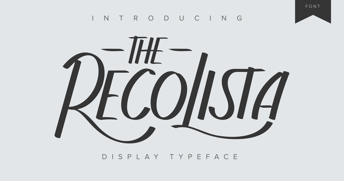 Download The Recolista   Display Typeface by Vunira
