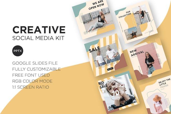 Thumbnail for Creative Social Media Kit - Google Slides