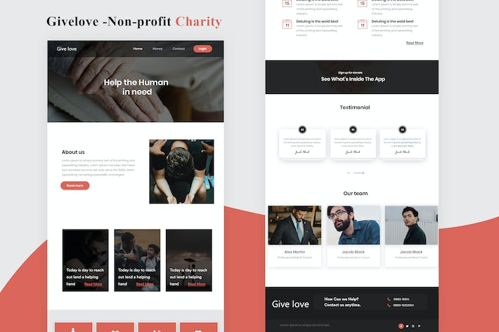 Givelove - Non-profit Charity Email Newsletter