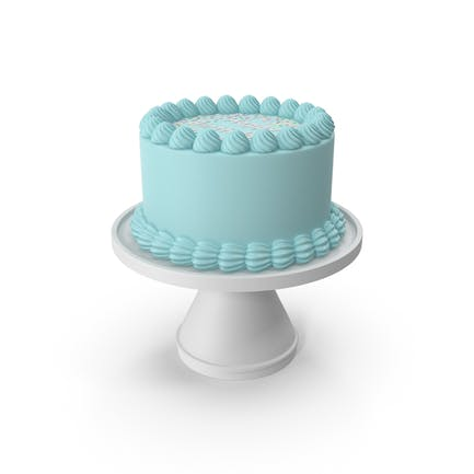 Blaue Geburtstagstorte