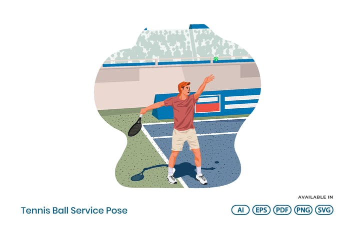 Thumbnail for Tennisball-Service-Pose