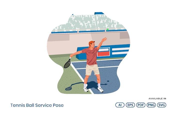 Tennisball-Service-Pose