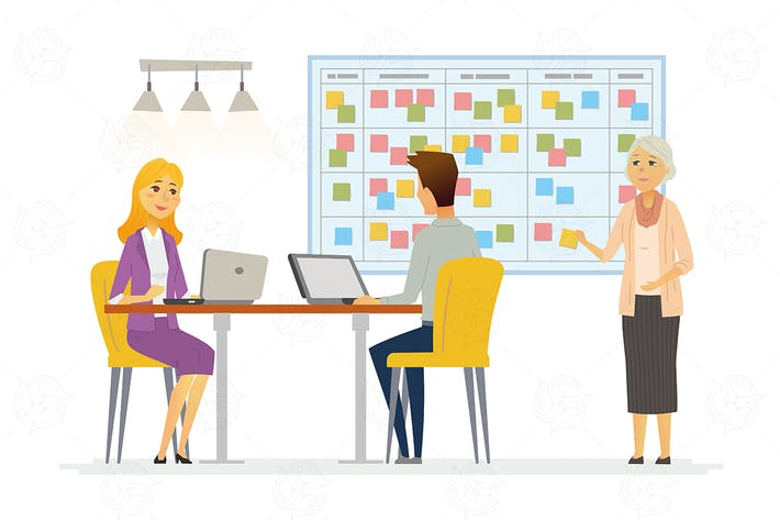 Thumbnail for Kanban planning system - vector illustration