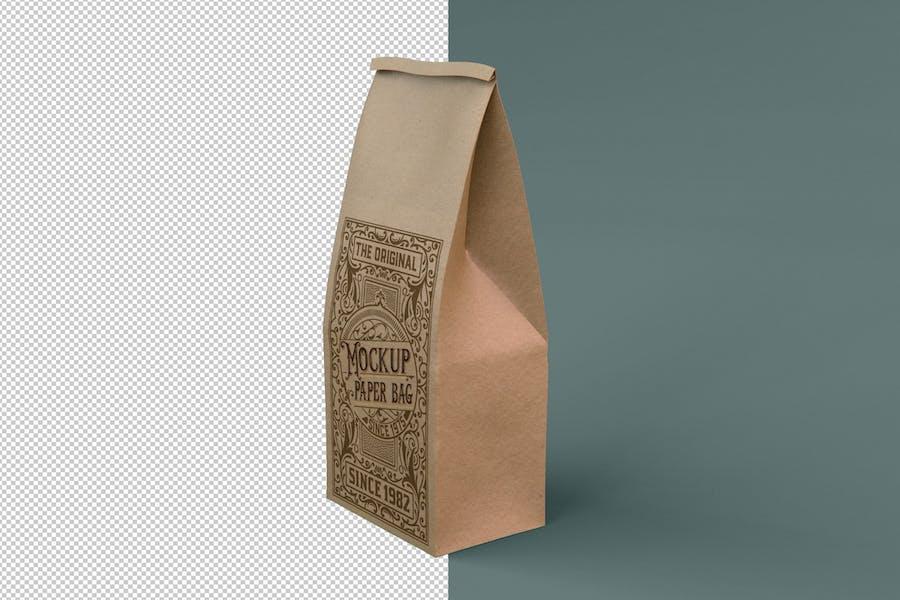 Kraft / Plastic Coffee Bag Mockup