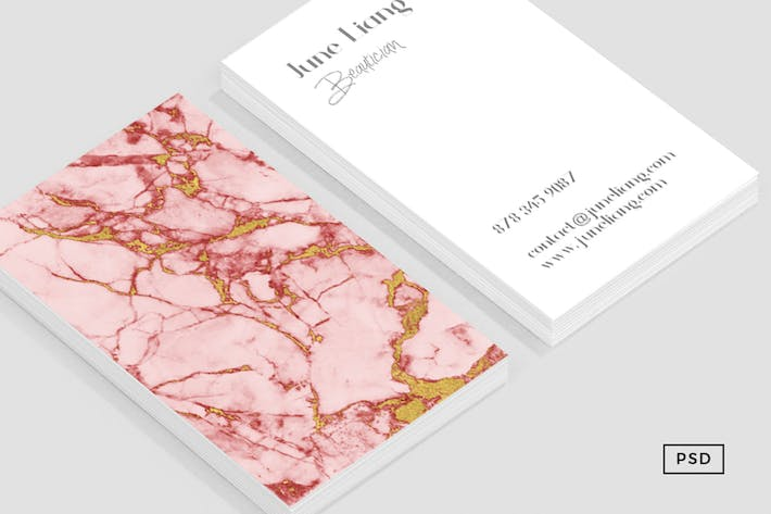 Thumbnail for Blush Gold Marble Business Card
