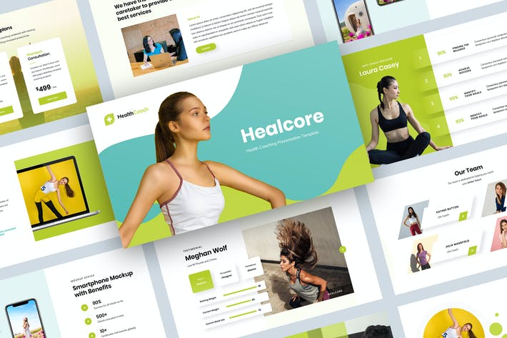Thumbnail for Health Coaching Keynote Presentation Template