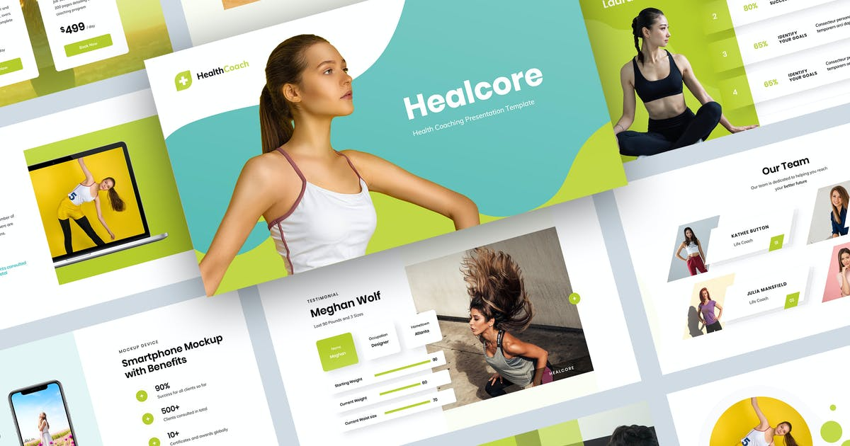 Download Health Coaching Keynote Presentation Template by Krafted