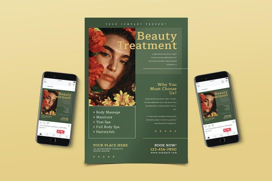 Beauty Treatment Flyer Pack
