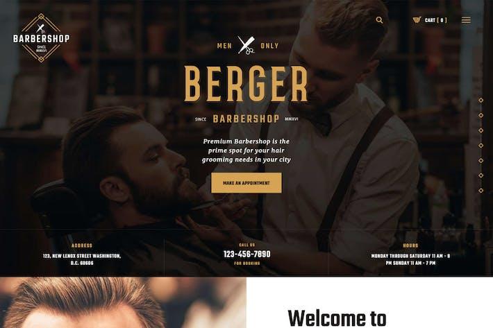 Thumbnail for Berger   Barbershop & Tattoo WordPress Theme