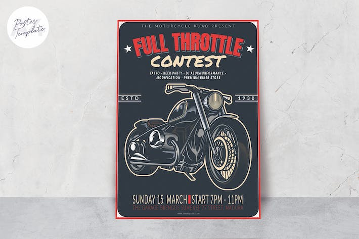 Thumbnail for Motorcycle Poster Template