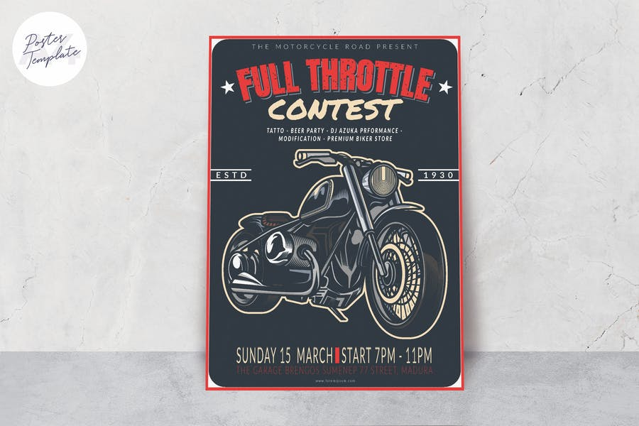 Motorcycle Poster Template