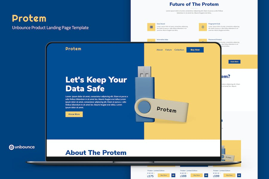 Protem — Unbounce Product Landing Page Template