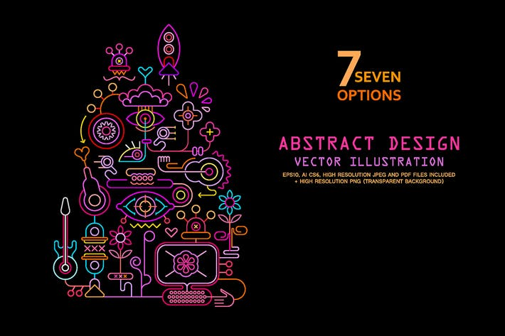 Thumbnail for 7 options of Abstract Art Design