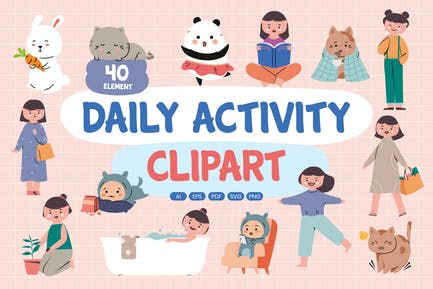Daily Activity Clipart