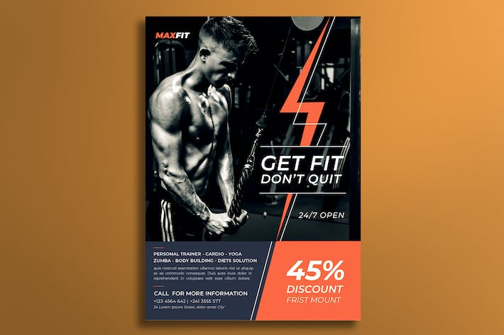 Thumbnail for Gym Flyer Template