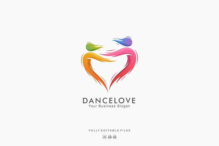 Thumbnail for Abstract Dance Love Colorful Logo