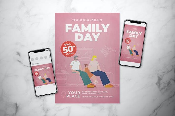 Thumbnail for Ensemble de dépliant Jour de la Famille