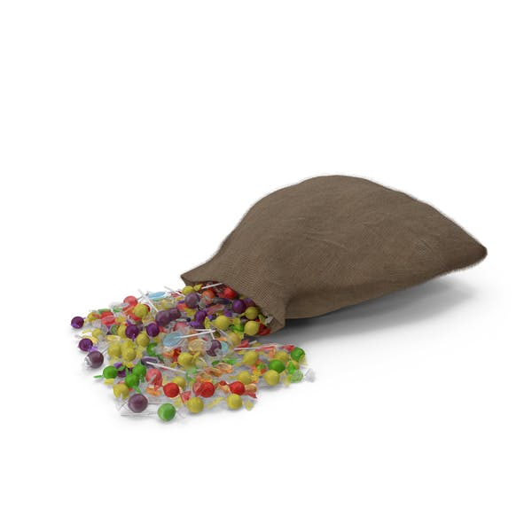 Sack with Mixed Wrapped Hard Candy