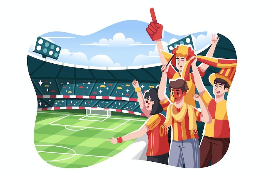 Football Fans Illustration