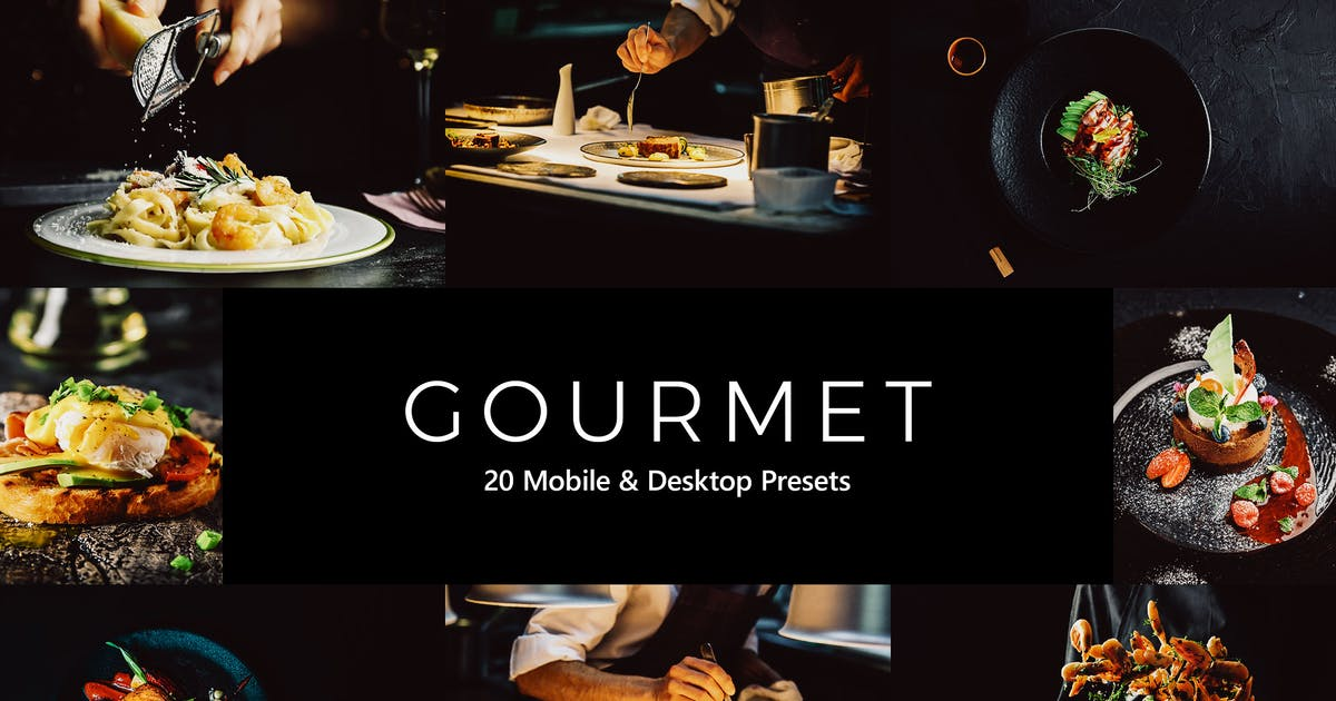 Download 20 Gourmet Lightroom Presets & LUTs by sparklestock