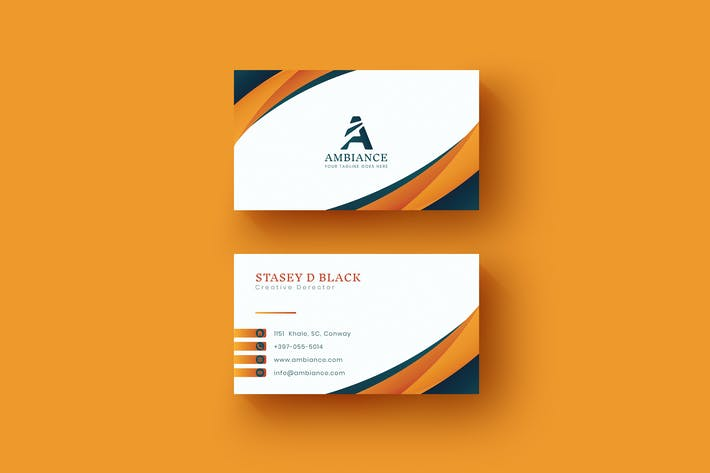 Thumbnail for Orange Card Name Horizontal and Vertical