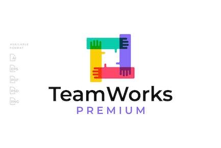 Hand Team Work Logo
