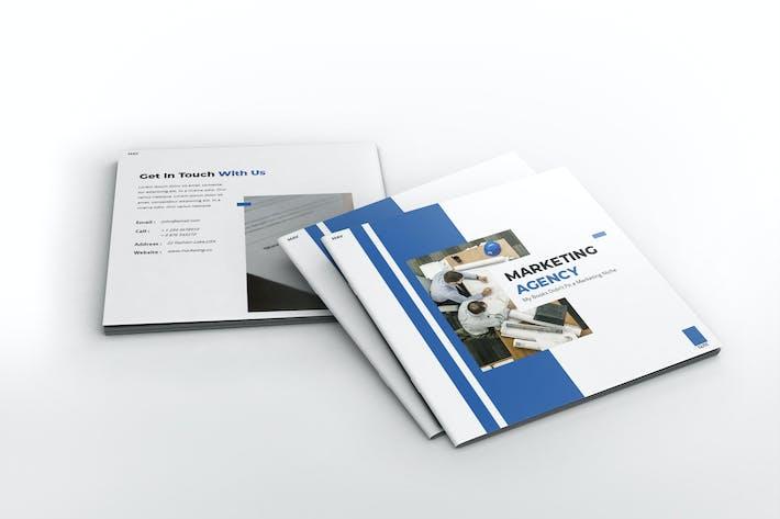 Thumbnail for Modèle de brochure de l'agence de marketing Square